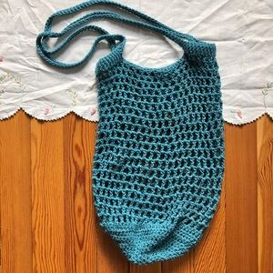 Teal knit bag